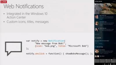 Win10 Edge浏览器将迎来网页通知:重要消息不再错过!