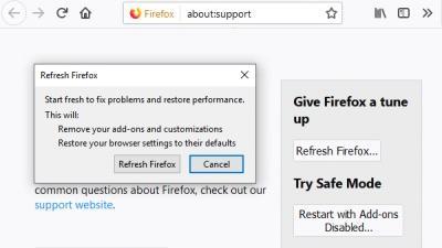 修复Win10上的Firefox高CPU或内存使用情况