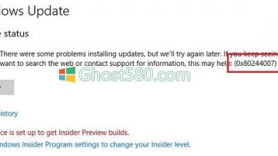修复Win10上的Windows Update错误0x80244007