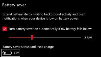 如何保持Windows 10手机电池寿命