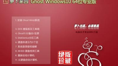 新萝卜家园Ghost Windows10 64位专业版(16299.192)