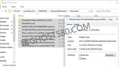 如何删除下载的Windows10更新文件