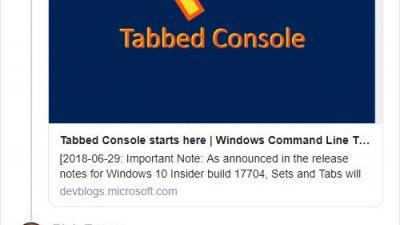 Microsoft停止Windows 10设置选项卡式窗口功能