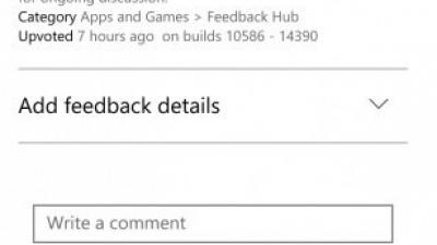 Windows10 Mobile版《Feedback Hub》或将迎来暗黑模式