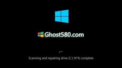 Windows 10扫描和修复驱动器卡住了
