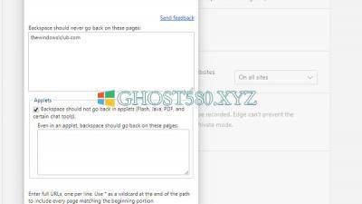 Windows10:如何在Microsoft Edge和Chrome浏览器中启用Backspace