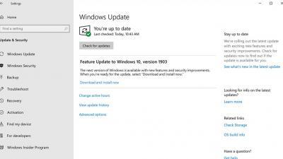 如何下载和安装Windows 10 May 2019更新