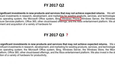 无声判决:微软将WP正式移除继续投资名单