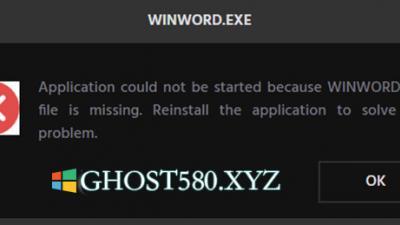 修复Win10上Office应用程序中的WINWORD.EXE错误