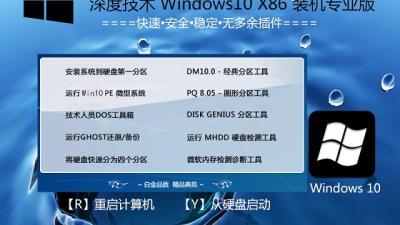 深度技术Ghost Win10 32位装机专业版(15063.138)