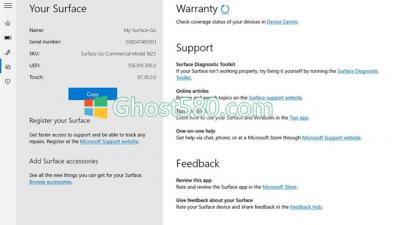 Win10 Surface应用程序现在可以告知用户保修何时结束