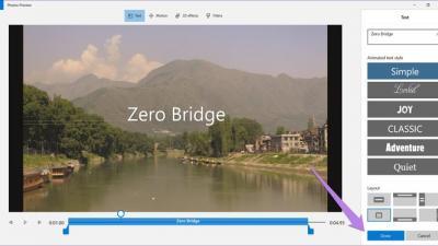 如何在Win10上的Microsoft照片中向视频添加文本