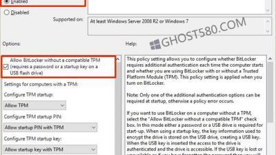 如何确保Win10系统可以打开没有TPM的BitLocker