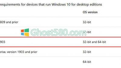 Windows 10:仅适用于新PC的至少32GB存储空间