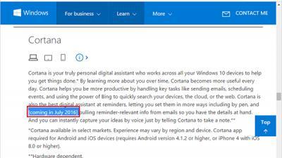 微软确认Win10一周年更新正式版7月发布