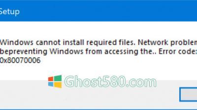 修复Win10安装程序错误代码0x80070006
