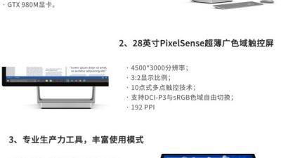 【一图知】秒懂微软Surface Book i7和Surface Studio一体机