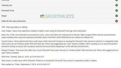 Microsoft确认Win10版本1903错误攻击Visio