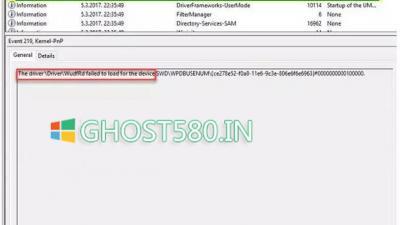 设备插入Windows 10时的事件ID 219错误